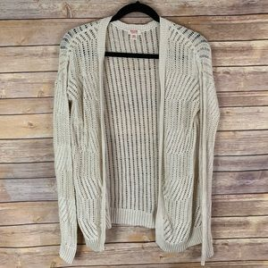 3/$30 Mossimo M Open Knit Ivory Cream Cardigan